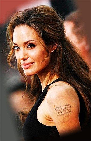 Анжелина Джоли и ее татуировки