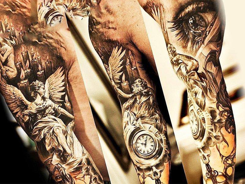 татуировка во всю руку - рукав