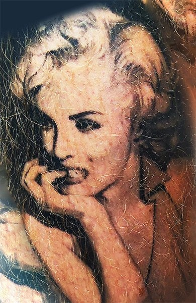 Мэрилин Монро татуировка