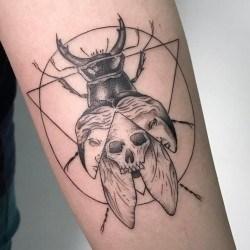 Тату жук-скарабей: значение, фото татуировки, эскизы