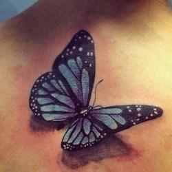 Бабочка с тенью тату