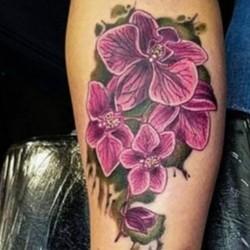 Тату орхидеи и цветы фото