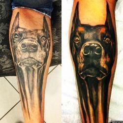 Татуировки с доберманом фото