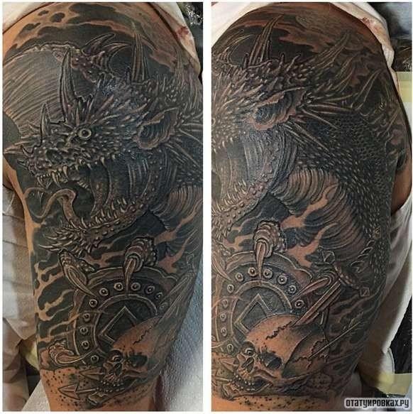 Тату драконов фото на плечо