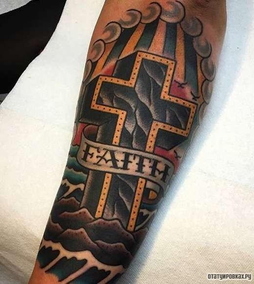 можно крест тату на икре Алена Потоки