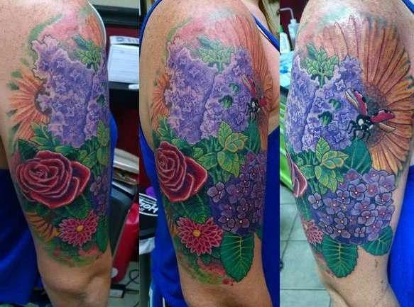 Красивая композиция от цветов