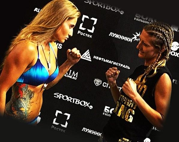 Девушка боксерша с татуировками