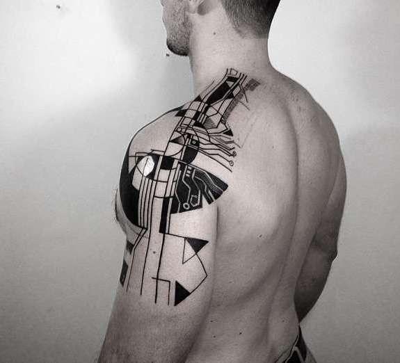 Хай теч татуировка, еще один вариант