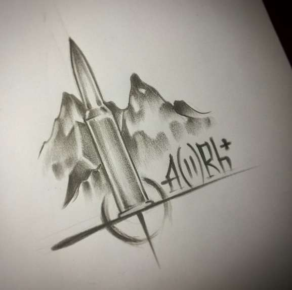 Эскиз армейской татуировки