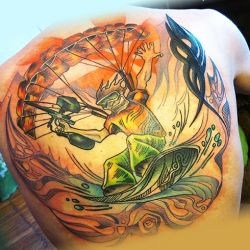 Спортивная татуировка любителя painball