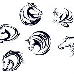 Спортивный эскиз в виде коня