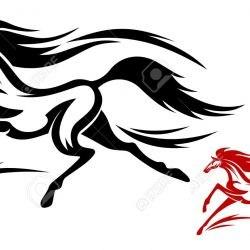 Спорт - лошадь, эскиз