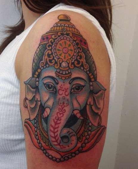 Индийская татуировка слона Ганеша