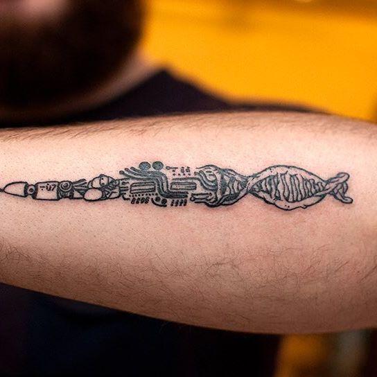Татуировка контур