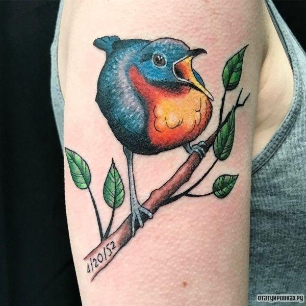 Татуировка соловей