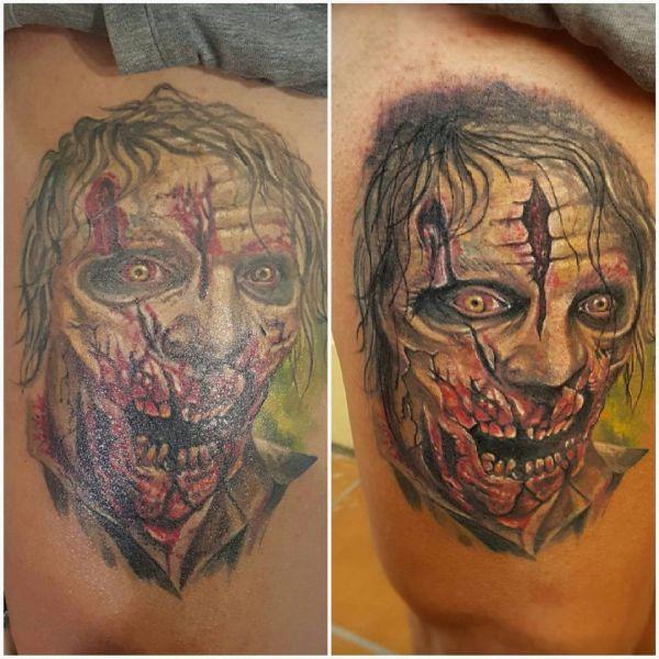 Тату жуткого зомби