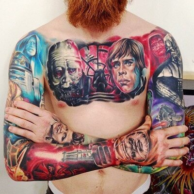 Татуировки для мужчин на груди