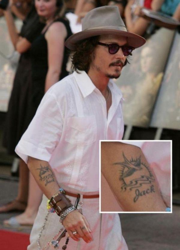 Татуировка на руке Джека Воробья