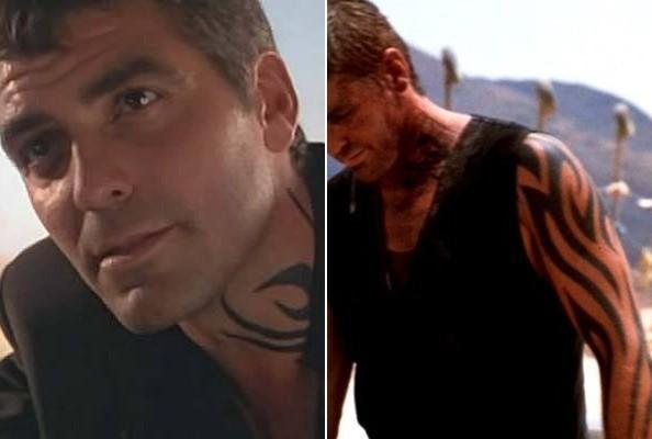 Татуировки Джорджа Клуни на фото