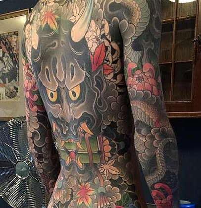 Японский стиль татуировок на теле