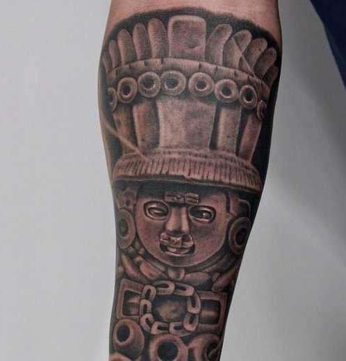 Татуировка в стиле ацтеков