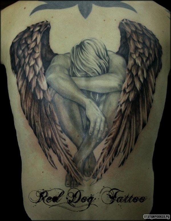 Татуировка безликий ангел