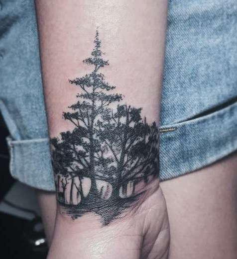 Деревья ан запястье