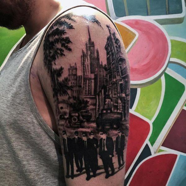 Татуировка большого черного города