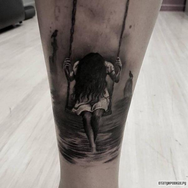Татуировка качели