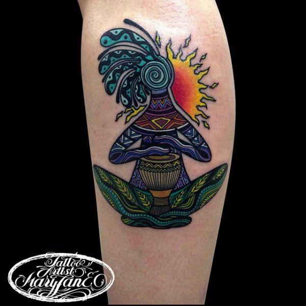 Кокопелли в виде татуировки