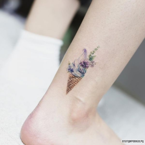 Татуировка мороженое