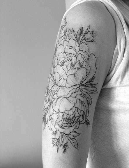 Цветок чб рисунок