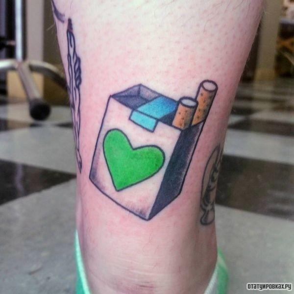 Татуировка сигарета