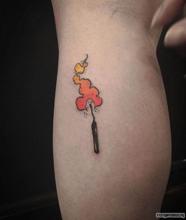 Татуировка спичка