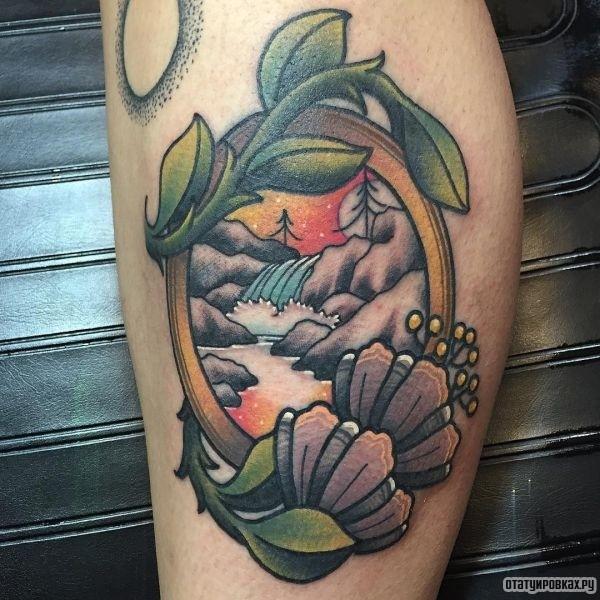 Татуировка водопад