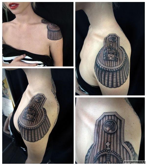 Татуировка эполет