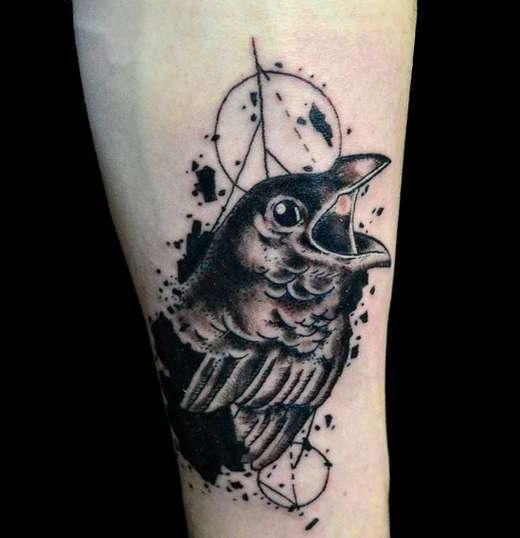 Абстракция в виде ворона