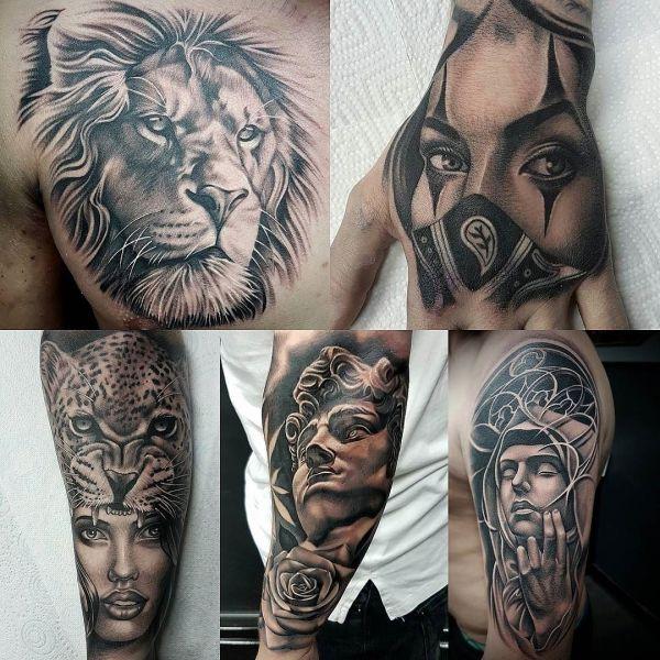 Несколько вариантов тату в стиле Чикано