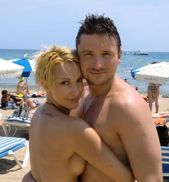 Лера Кудрявцева с Сергеем Лазаревым, татуировка на спине