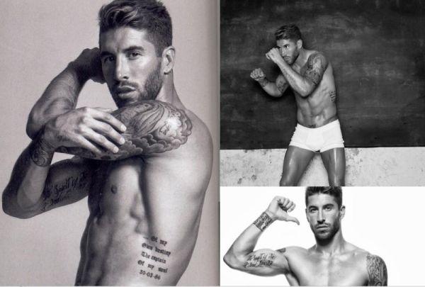 Татуировки Серхио Рамоса на теле
