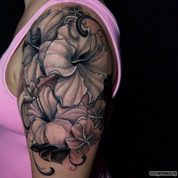 Татуировка гибискус