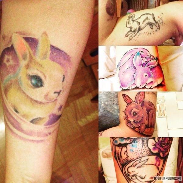 Татуировка кролик