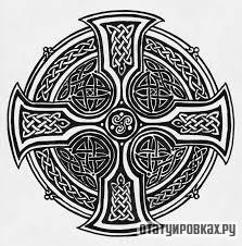 Татуировка круг с крестом