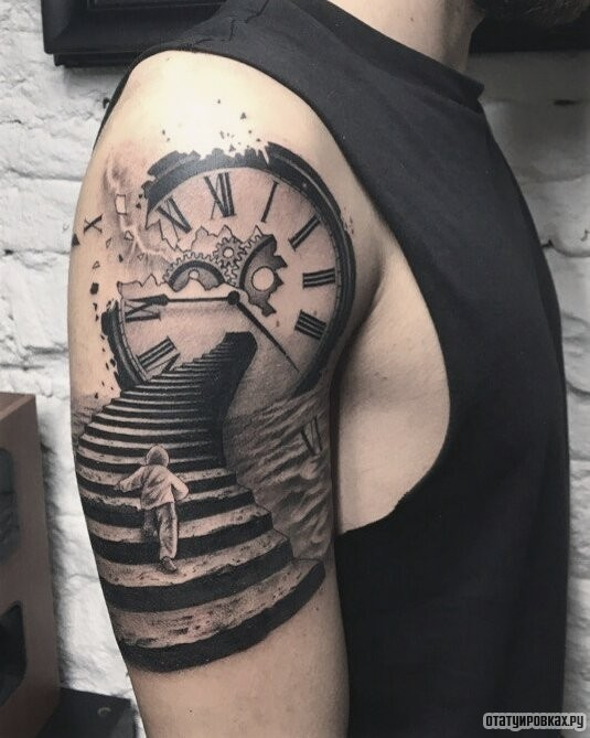Татуировка лестница