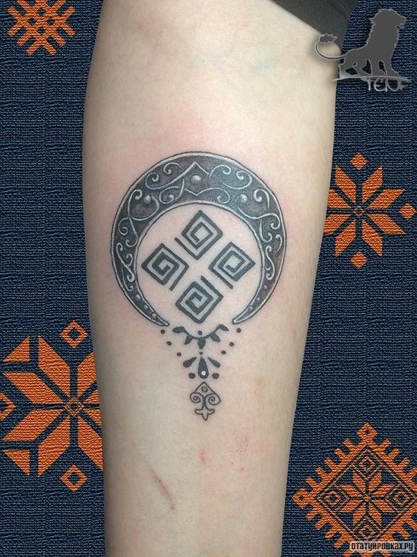 Татуировка лунница