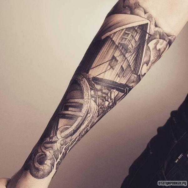 Татуировка мельница