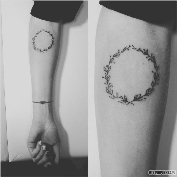 Татуировка оливковая ветвь, ветка, венок