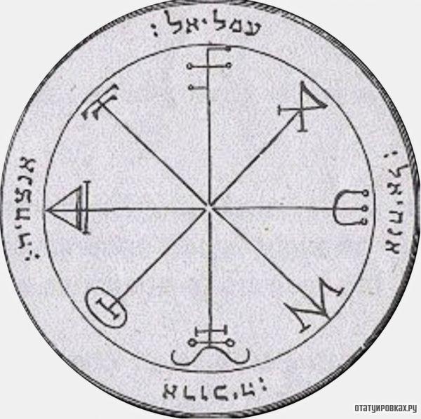 Татуировка Пентакль Соломона