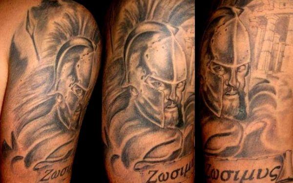 Богатырь на плече - русская татуировка