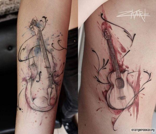 Татуировка скрипка